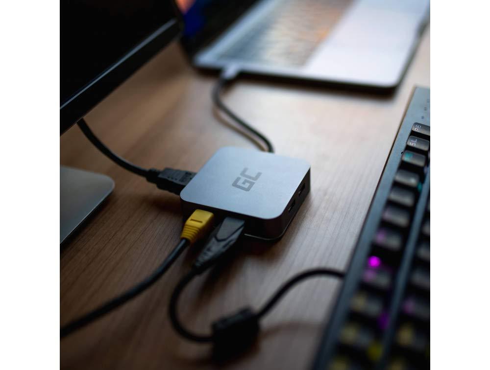 Pro 13 Green Cell/® HUB USB-C Docking Station 6 Puertos en 1 Adaptador Pro 15 3X USB 3.0 HDMI Ethernet USB-C Power Delivery y Samsung Dex Apoyo Compatible con Apple MacBook 12 2016, 2017, 2018