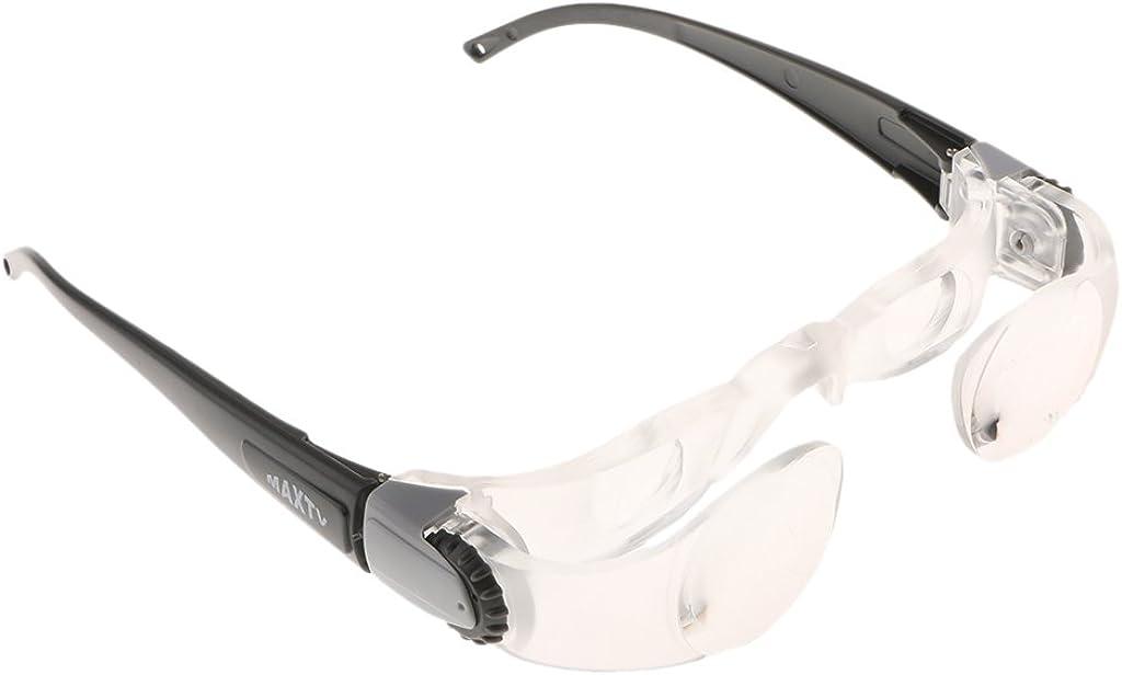 Fenteer Vergr/ö/ßerung 2.1X Lupe TV-Brille Optische Glaslinse Fernsehbrille Lupenbrille