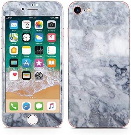 igsticker iPhone SE 2020 iPhone8 iPhone7 専用 スキンシール 全面スキンシール フル 背面 側面 正面 液晶 ステッカー 保護シール 013271 グレー 大理石 模様