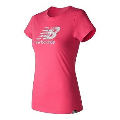 prix compétitif d42a5 09414 New Balance - T-shirt - Femme rose rose Large: Amazon.fr ...