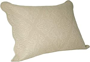 """ELEGANT LIFE HOME All-Season Cotton Collection Martha Reversible Allover Trapunto Quilting Washed Pillow Sham, King Size, 20 x 36"""" + 2"""" Khaki Color"""
