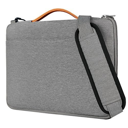 Inateck 15.6 Inch Laptop Shoulder Bag,  Spill-resistant Laptop Sleeve Case for 15-15.6'' Dell Lenovo HP Chromebook ASUS Acer Toshiba, Gray