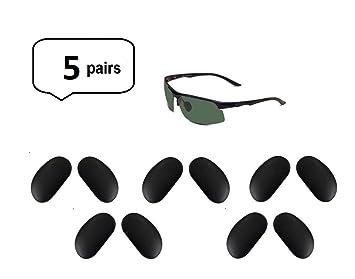 b07a8ea7aa Amazon.com  AM Landen Sunglasses Black Silicone Nose Pads Eyeglass ...