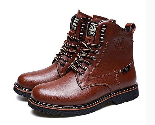 HL-PYL - Stiefel Warme Martin Stiefel Warme Stiefel kurze Stiefel Stiefel Stiefel und Schuhe aus Baumwolle 38 Braun 8802a4