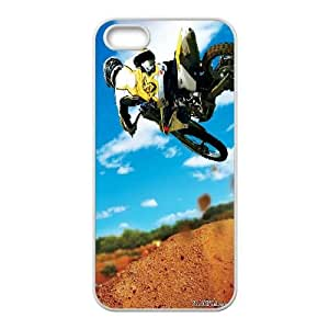 iPhone 5 5s Cell Phone Case White Motocross Stunt 2 LSO7704162