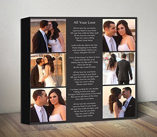 amazon com personalized song lyrics canvas photo collage canvas