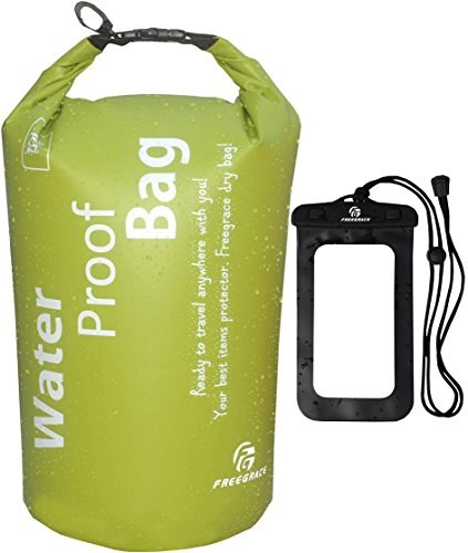 Freegrace Ultimate Lightweight Dry Sack - Dry Bags 10L Green and Waterproof Case