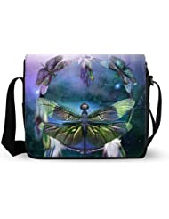 fashionable cute Dream Catcher Spirit Of The Dragonfly Oxford Fabric Messenger Bag,Shoulder Bag
