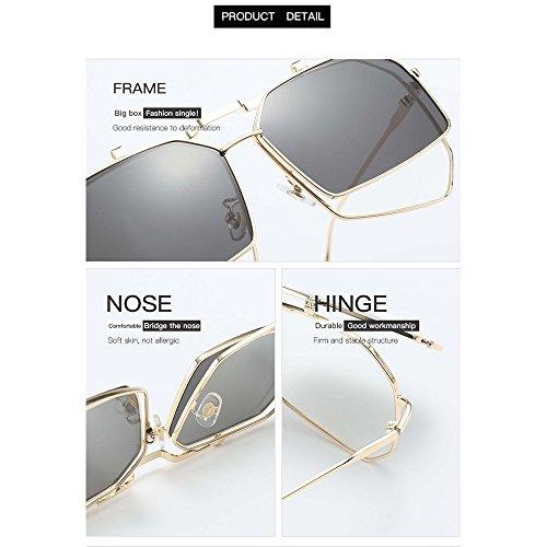De Gafas Sol La Gafas La Bicolores De Protección Protegidas De Polarizadas Sol Moda Douerye Ultravioleta De 45Yx6W7nF6