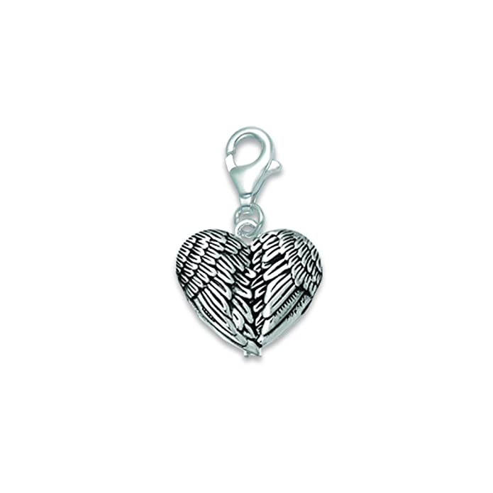 Heather Needham Sterling Silver Angel Wings clip-on Charm 15mm X 13mm 8917TR//HN Size