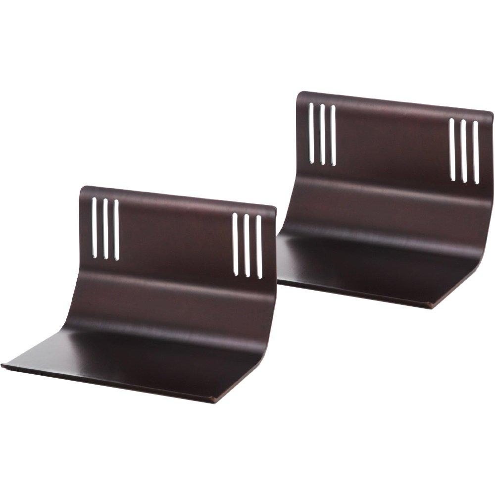 ベッド用 布団ずれ落ち防止 曲げ木 ベッドサイドガード 同色2個組 木製 (ブラウン) B0765ZP2MP  ブラウン