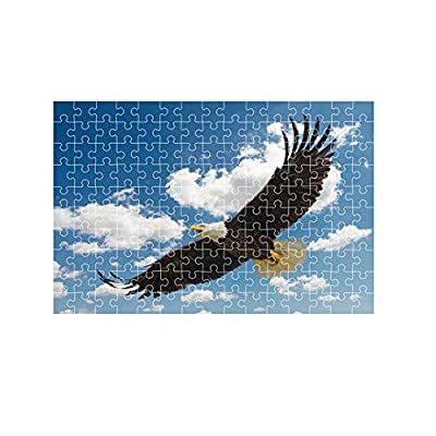 Jigsaw Puzzles 150 Pieces for Adults, Eagle Flying with Wings Spread Oil Painting Puzzles Puzzle Play Brain Teasers for Teens, Educational Games Toys Birthday Gift Preschool Puzzles for Kids: Toys & Games