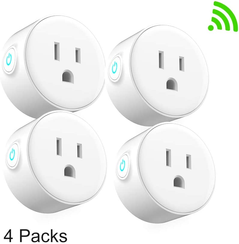 wifi smart plug Compatible with Alexa google assistant IFTTT,no hub required and timing function,white mini outlet control your devices frome anywhere (4)