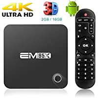 MaQue EM95X Android 6.0 TV Box Amlogic S905X Quad Core 2GB 16GB 4K2K HDMI WiFi DLNA Airplay Miracast BT4.0 HD Media Player
