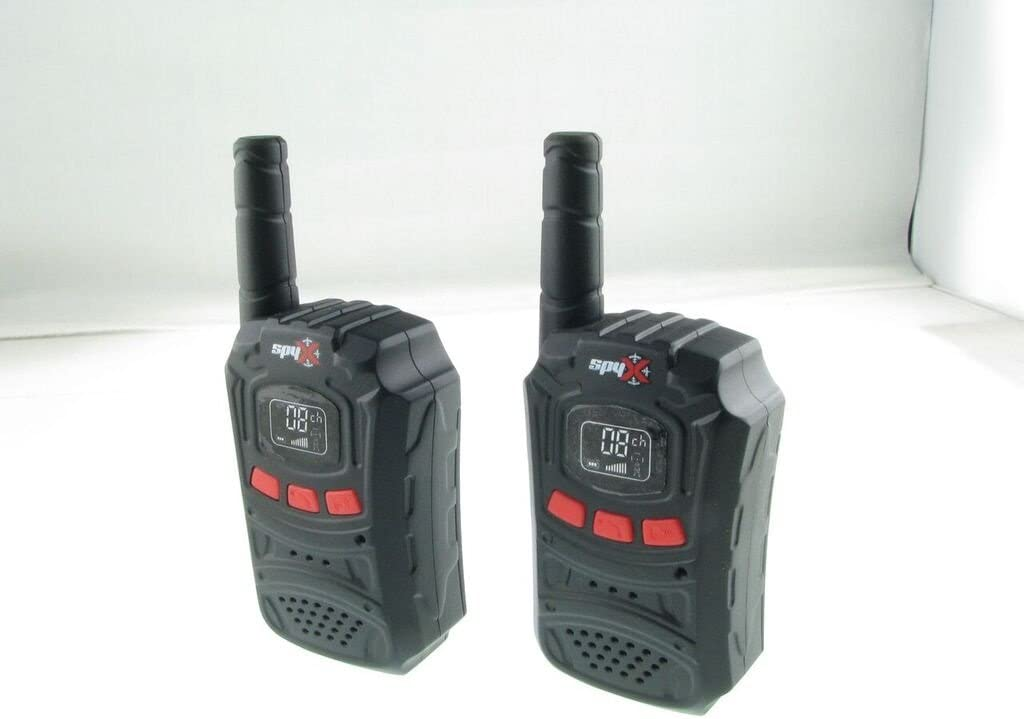 SpyX Spy Walkie Talkies Perfect Addition for Your spy Gear Collection! Made for Small Hands and Doubles as a Spy Toy for Buddy Play