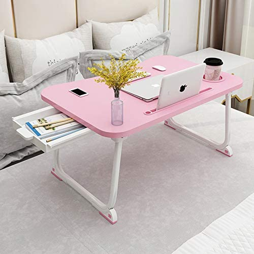Portable Folding Lap Desk Laptop Coffee Tea Tray Lazy Bed Table Stand W// 4 Pens