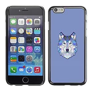 Carcasa Funda Case // V0000501 Triangle Wolf Design// Apple iPhone 6 4.7