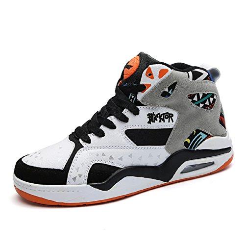 Hautes Baskets Sport Chaussures Fitness Homme Mode Orange Tqgold De Blanc Sneakers OxHq0w15