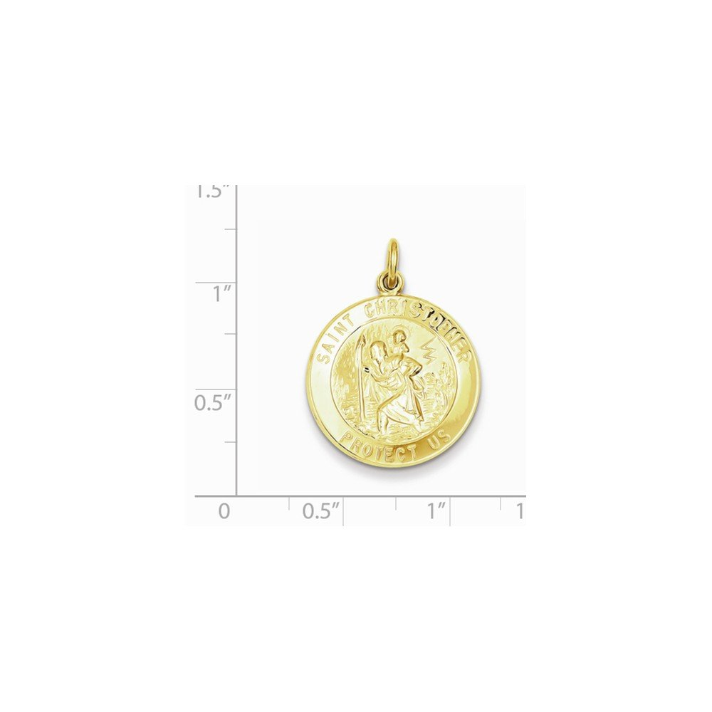 Christopher Medal Jewel Tie 24k Gold-Toned Sterling Silver St 22mm x 30mm