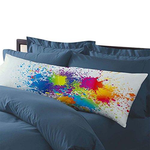 "AILOVYO 20"" x 54"" Body Pillowcase Watercolor Painting Silky"