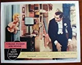 AB12 EDDY DUCHIN STORY Tyrone Power/Novak orig '56 LC. This is an original lobby card; not a dvd or video. Lobby cards were used to advertise film playing at theater and they measure 11 by 14 inches.