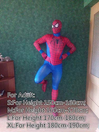 Desconocido Disfraz de Spiderman de Halloween, Traje de Spiderman ...