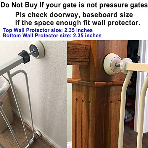 51Gnct%2BTUYL - 4 Pack Baby Gates Wall Cups, Safety Wall Bumpers Guard Fit For Bottom Of Gates, Doorway, Stairs, Baseboard, Work With Dog Pet Child Kid Pressure Mounted Gates