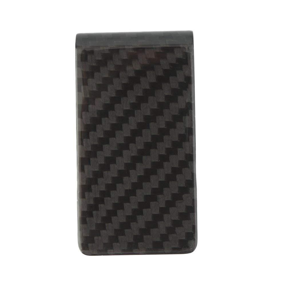 Emily Portafogli per Banconote in Fibra di Carbonio Nero Opaco Portafoglio Porta Carte di Credito Blu