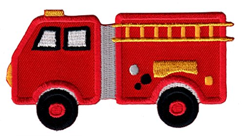 PatchMommy Iron On Patch, Fire Truck - Appliques for Kids ()