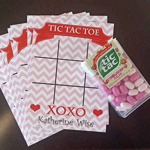 (Valentine's Day - Valentine Tic Tac Toe Card Pink (set of 12))