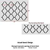 J BOUTIQUE STENCILS Moroccan Trellis Pattern
