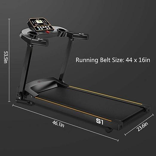 hogar No bland Cinta de correr para correr a m/áquina con inclinaci/ón de pantalla HD silenciador plegable de 1-10 km//h