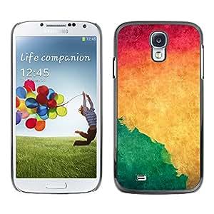 iBinBang / Funda Carcasa Cover Skin Case - Acuarela Verde Líquido dinámico Yellow Wallpaper - Samsung Galaxy S4 I9500