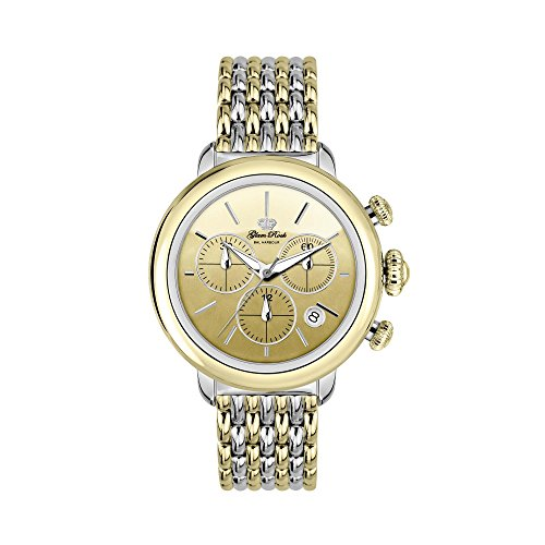Glam Rock Women's Bal Harbour 40mm Two Tone Steel Bracelet Steel Case Swiss Quartz Analog Watch GR77117N