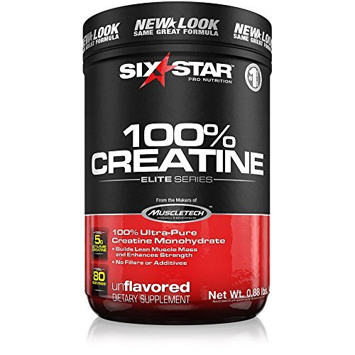Six Star Pro Nutrition Elite Series 100% Creatine, 400 Gram Powder- Unflavoured US (Packaging may vary) by Six Star