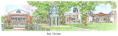 East Carolina University - Collegiate Sculptured Ornament by Sculptured Watercolor Ornaments