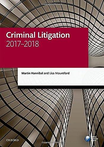 criminal litigation 2017 2018 legal practice course manuals rh amazon co uk legal annual leave entitlement legal analysis