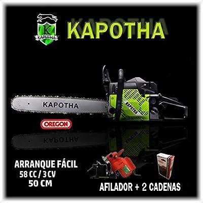 Motosierra de gasolina KAPOTHA 58CC, arranque fácil, 2cadenas ...