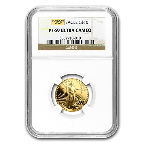1986 - Present 1/4 oz Proof Gold American Eagle PF-69 NGC (Random Year) Gold PF-69 (1/4 Oz Proof)