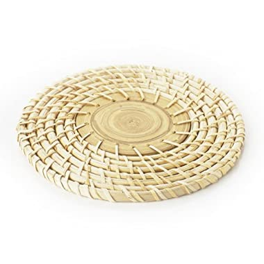 Natural Home Woven Bamboo Trivet, 8-Inch