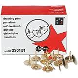 5 Star 330151 - Paquete de 150 chinchetas, color dorado