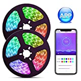 ELlight Dream Color LED Strip Lights with APP, 10m/32.8ft LED Lights with Multicolor Chasing, Waterproof RGB Rope Lights Kit, 300 LEDs SMD 5050 Flexible Strip Lighting for Home Kitchen