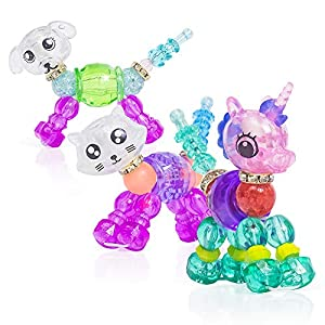 YUGUO Animal Twist Bracelets Colorful Magic Pets Bracelets Gifts for Girls - Cute Unicorn/Kitty/Puppy Collectible Deformed Bracelets Gifts for Kids, Make a Bracelet or Twist into a Pet
