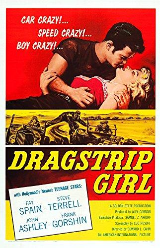 Posterazzi Dragstrip Girl Us Art from Left: John Ashley Fay Spain 1957 Movie Masterprint Poster Print (11 x 17)