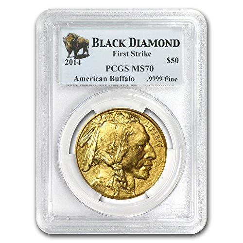 2014 Gold Buffalo - 2014 1 oz Gold Buffalo MS-70 PCGS (FS, Black Diamond) 1 OZ MS-70 PCGS