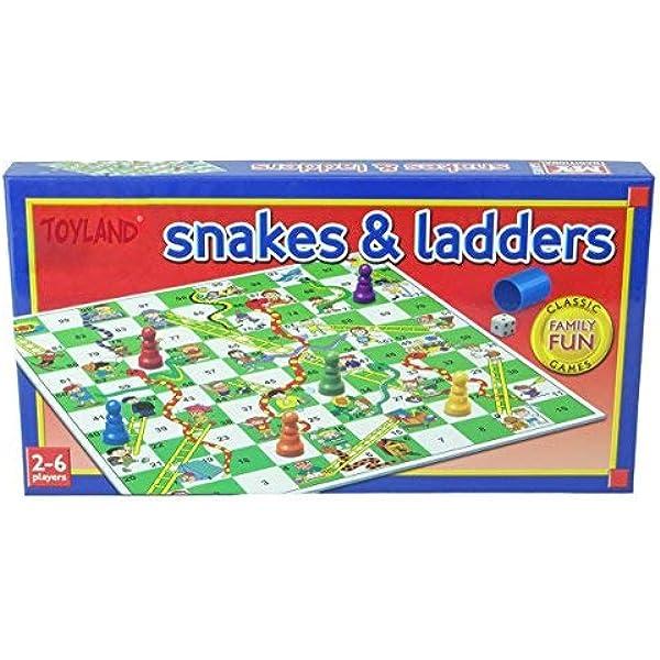TOYLAND® Snakes and Ladders Juego de Mesa Juego Familiar Tradicional: Amazon.es: Juguetes y juegos