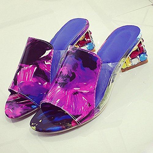 Sommer Sandalen CITWW Diamant mit Atmungsaktive Multicolor Hausschuhe Schuhe und Sandalen Mode Frauen Plateau Damen Sandalen ZfAqFwg