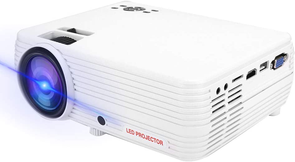"Gerioie Mini Projector, Full HD 1080p 160"" Display Supported Portable Movie Projector with 20,000 Hrs, Built-in Speaker(U.S. regulations)"