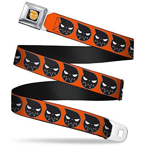 (Buckle-Down Seatbelt Belt - Soul Eater Logo C/U Orange/Black/White - 1.0