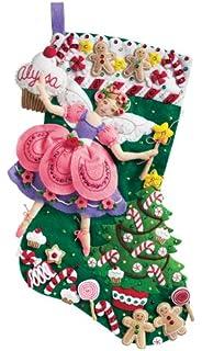 Amazoncom Bucilla 18Inch Christmas Stocking Felt Applique Kit